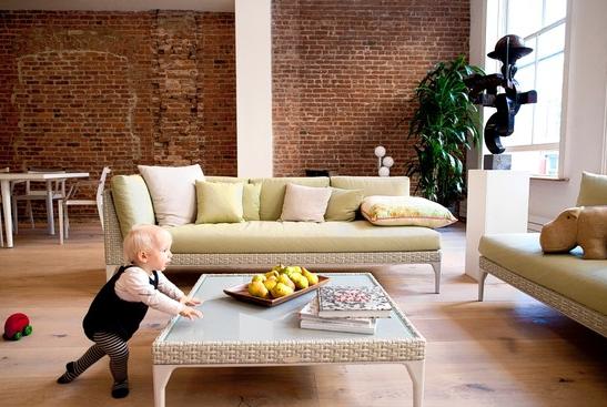 outdoor furniture indoors