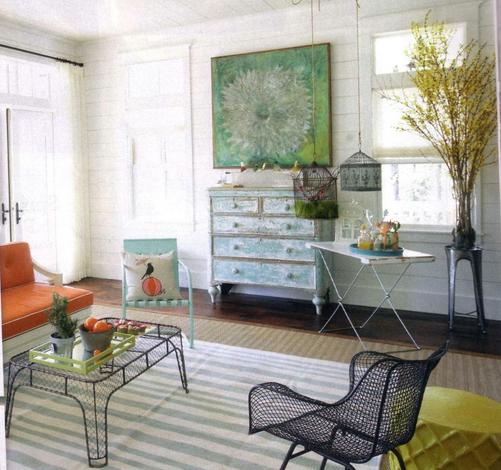 outdoor furniture inside